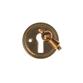 Nyckelskylt låsbolaget no7 5407K Mässing, Eskilstuna Kulturbeslag