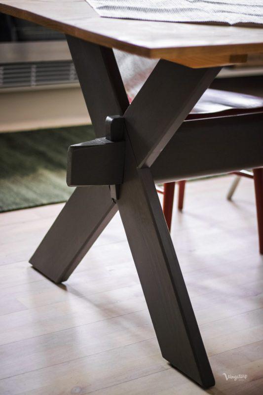 Kryssbord efter målning med linoljefärg.