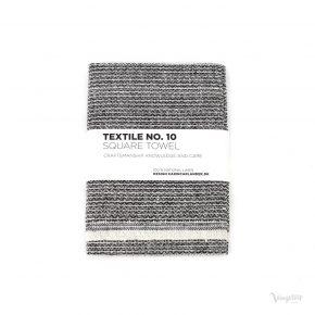 Textile No. 10, Square Towel / Kvadratisk Handduk, Sashiko Svart, Karin Carlander