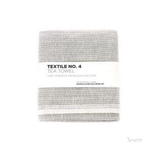 Textile No. 4, Tea Towel / Kökshandduk, Sashiko grå, Karin Carlander