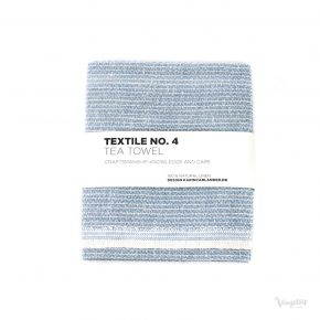 Textile No. 4, Tea Towel / Kökshandduk, Sashiko ljusblå, Karin Carlander