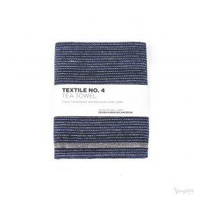 Textile No. 4, Tea Towel / Kökshandduk, ZigZag Indigo, Karin Carlander