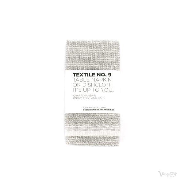 Textile No. 9 Servett / Disktrasa, Sashiko grå, Karin Carlander