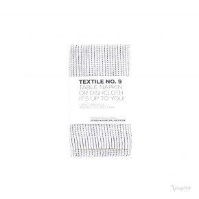 Textile No. 9 Servett / Disktrasa, YinYang Vit/Mörkblå, Karin Carlander