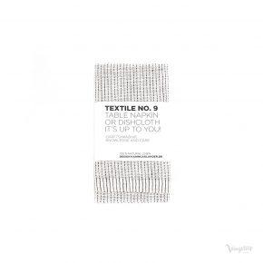 Textile No. 9 Servett / Disktrasa, YinYang Vit/Svart, Karin Carlander