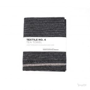 Textile No. 4, Tea Towel / Kökshandduk, ZigZag Svart, Karin Carlander