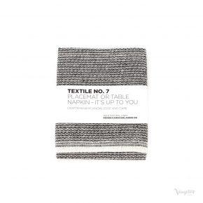 Textile No. 7, Bordstablett / Servett, Sashiko Svart, Karin Carlander
