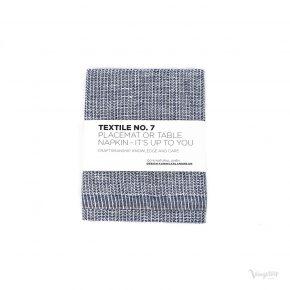 Textile No. 7, Bordstablett / Servett, YinYang Mörkblå/Vit, Karin Carlander