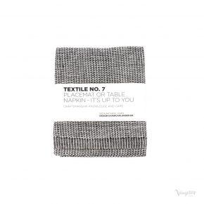 Textile No. 7, Bordstablett / Servett, YinYang Svart/Vit, Karin Carlander