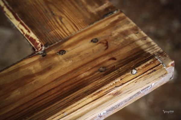 Trären dörr, närbild profiler