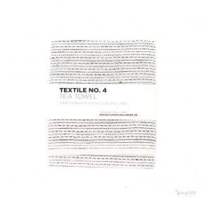 Textile No. 4, Tea Towel / Kökshandduk, Sashiko Vit, Karin Carlander