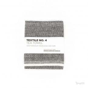 Textile No. 4, Tea Towel / Kökshandduk, Sashiko Svart, Karin Carlander