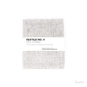 Textile No. 4, Tea Towel / Kökshandduk, YinYang Vit/Svart, Karin Carlander