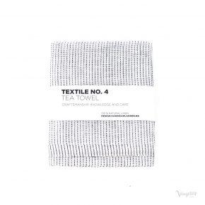 Textile No. 4, Tea Towel / Kökshandduk, YinYang Vit/Mörkblå, Karin Carlander