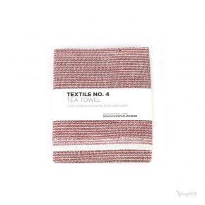 Textile No. 4, Tea Towel / Kökshandduk, Sashiko röd, Karin Carlander