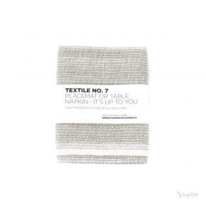 Textile No. 7, Bordstablett / Servett, Sashiko grå, Karin Carlander