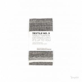 Textile No. 9 Servett / Disktrasa, Sashiko Svart, Karin Carlander