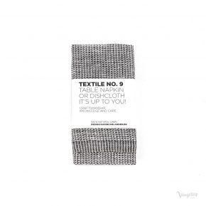 Textile No. 9 Servett / Disktrasa, YinYang Svart/Vit, Karin Carlander