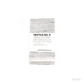 Textile No. 9 Servett / Disktrasa, Sashiko Vit, Karin Carlander
