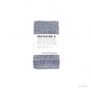 Textile No. 9 Servett / Disktrasa, YinYang Mörkblå/Vit, Karin Carlander