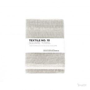 Textile No. 10, Square Towel / Kvadratisk Handduk, Sashiko grå, Karin Carlander
