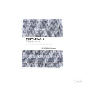 Textile No. 4, Tea Towel / Kökshandduk, YinYang Mörkblå/Vit, Karin Carlander